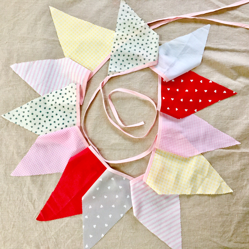 pink cotton bunting